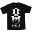 Rebel8 Up in flames T-shirt black