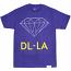 Diamond Supply Co DL-LA T-Shirt Purple