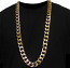 Gold Plated XL Miami Cuban Chain 20mm x 34 inches Hollow Links High Quality