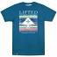 Lrg Fallen Leaves Stripe Block Up T-shirt Nautical Blue