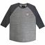 Brixton Wheeler 3/4 Sleeve Baseball T-Shirt Grey Blue