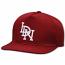 LDN Strapback Baseball Cap Dark Red