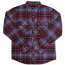 Brixton Bowery Flannel L/S Shirt Navy Plaid