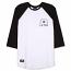 Lrg Inspired Three Quarter Sleeve Raglan T-Shirt Black