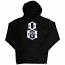 Rebel8 Logo Pullover Hoodie Black