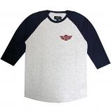 Brixton Cylinder 3/4 Sleeve T-Shirt Ash
