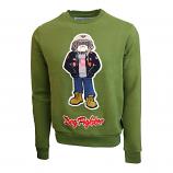 Top Gun Dog Fighter Crewneck Sweatshirt Olive