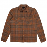 Brixton Archie Flannel L/S Shirt Brown