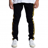 Embellish Bolt Standard Denim Jeans Black Yellow
