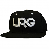Lrg Branded Snapback Hat Black White