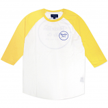 Brixton Wheeler 3/4 Sleeve Baseball T-Shirt White Yellow