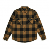 Brixton Bowery Flannel Long Sleeve Shirt Black Bronze