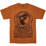 Famous Stars and Straps Standard T-Shirt Texas Orange black