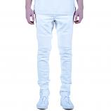Embellish Spencer Biker Denim Jeans White