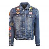 Top Gun Leopard Denim Jacket