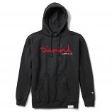 Diamond Supply Co OG Script Hoodie Black Red