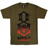 Rebel8 Up in flames T-shirt army
