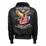 Top Gun Eagle CW45 Bomber Jacket Black