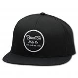 Brixton Wheeler Mesh Snapback Cap Black