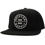 Brixton Oath III Snapback Cap Black