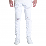 Embellish Daytona Biker Denim Jeans White
