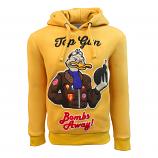 Top Gun Bombs Away Pullover Hoodie Mustard