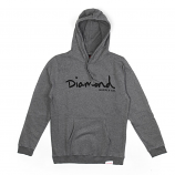 Diamond Supply Co OG Script Core Hoodie Gunmetal