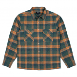 Brixton Archie Long Sleeve Flannel Shirt Green Plaid