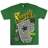 Famous Stars and Straps Daytona T-Shirt Kelly Green Yellow White