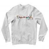 Diamond Supply Co OG Script Fasten Sweatshirt White