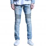 Embellish Culver Biker Denim Jeans Light Blue