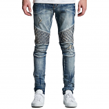 Embellish Turkish Biker Denim Jeans Blue