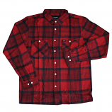 Brixton Milton Long Sleeve Flannel Shirt Red