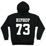 HIPHOP73 Pullover Hoodie Black