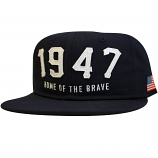 Lrg Home Of The Brave Snapback Hat Navy