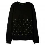 Lrg Half Ditzy Crewneck Sweatshirt Black