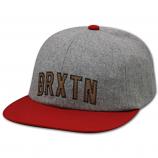 Brixton Hamilton Strapback Baseball Cap Grey Red