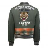 Top Gun Vietnam Canvas Bomber Jacket Olive