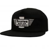 Brixton Cylinder Snapback Cap Black