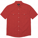 Brixton Wayne Short Sleeve Shirt Red