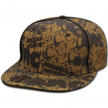 Dark n Cold All Over Print Baseball Cap Tan Brown