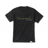 Diamond Supply Co OG Script T-shirt Black Green