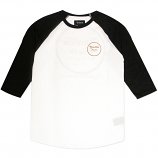 Brixton Wheeler 3/4 Sleeve Baseball T-Shirt White Orange