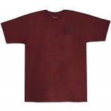 Brixton Rift T-Shirt Burgundy Navy