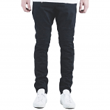 Embellish Spencer Biker Denim Jeans Jet Black