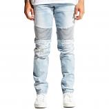 Embellish Erwin Biker Denim Jeans Light Blue