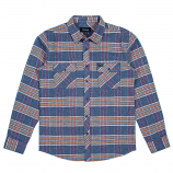 Brixton Bowery Long Sleeve Flannel Shirt Slate Blue