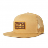 Brixton Grade Mesh Snapback Cap Copper Brown