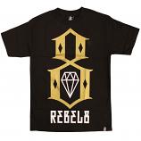 Rebel8 Logo T-shirt Black Gold