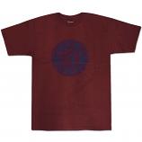 Brixton Rival T-Shirt Burgundy Navy